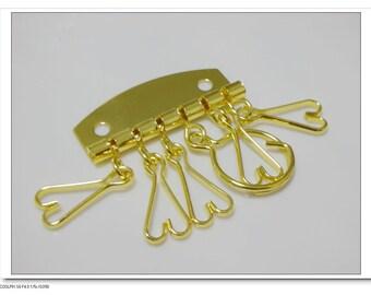 4.7x5.5 golden key organizer key holder key rings   E6
