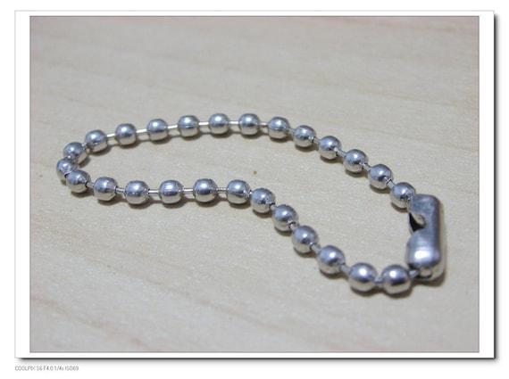40 pcs Key Chains 4 inch nickel 10cm ball chains i37