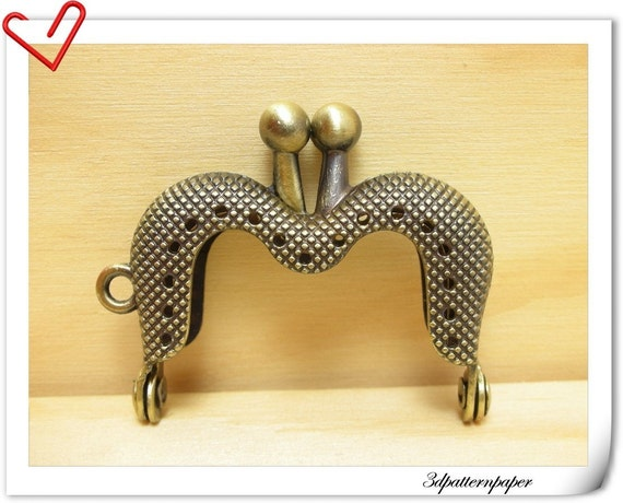 4cm M shape bronze sewing  purse frame purse making supplies A11
