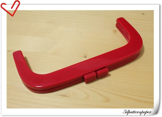 25cm x 11cm Red resin  purse frame bag frame bag handle K30
