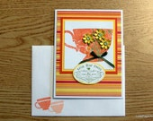 Handmade PaperArt Greeting Card with Stampin Up Images,  Anniversary or Friendship, Special Occasion Item