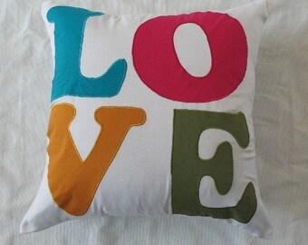 love pillow. decorative  nursery pillow.  Kids room pillow. Gift of love  pillow.  26inch euro sham. custom made pillow cover