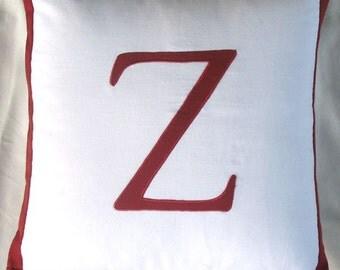 Monagram  throw pillows  alphabet pillows - decorative cushion covers-customize size 16 x16  , colour