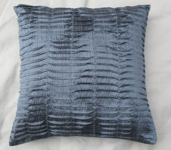 Stock clearance sale. Sleat gray silk pintuck.  cushion cover 16 inch decorative throw pillow cover in stock 2