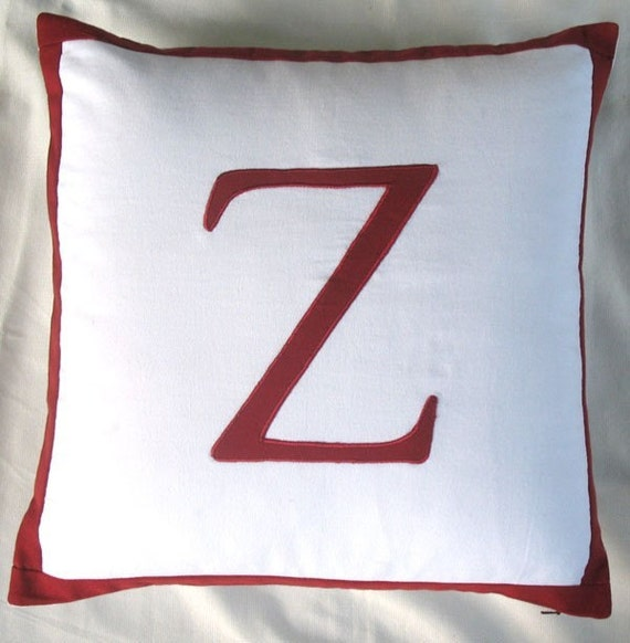 Decorative Pillows Letters : A to Z initial letter alphabet pillows decorative cushion