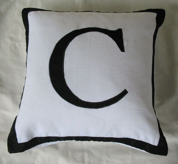 Decorative Pillows With Monogram : Items similar to Monogrammed throw pillows 18 inch Custom order on Etsy