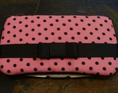 Pink and Black Polka Dot Wipes Case