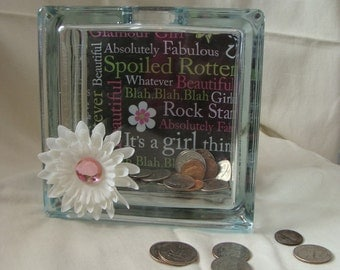 It's a Girl Thing Glass Bank