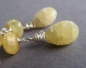 Yellow Opal, Beryl American Honey earrings