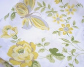 Vintage Yellow Butterfly Pillowcase