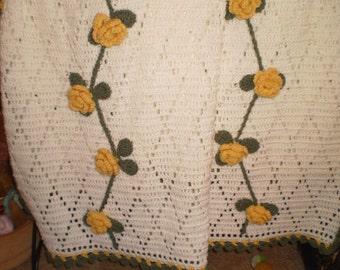 Rose Trellis Afghan