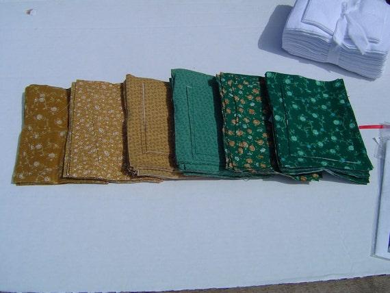 Rag Quilt Kit Brick Design Greens and Browns