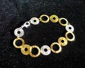 Gold Plus Silver O Link Bracelet