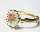 ring -- adjustable.  pink rose.
