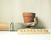 Gardener Vintage Scrabble Tile Sign