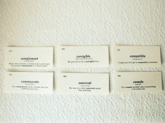 Compatible : Vocabulary Cards