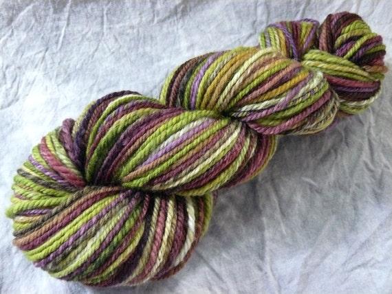 Worsted Handspun yarn 'Delicate' self-striping 165 yards