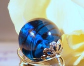 OOAK Crystal Ball Sterling Silver Wire Wrapped Ring