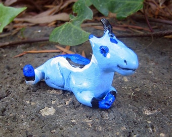 Unicorn Figurine - Blue Unicorn - Thomson's Gazelle