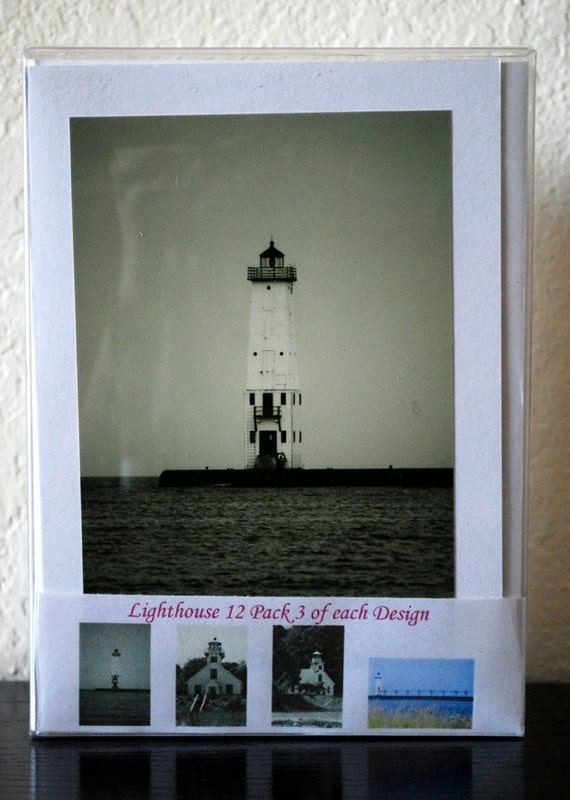 Lighthouse Box Set of 12 Greeting Cards-READY TO SHIP