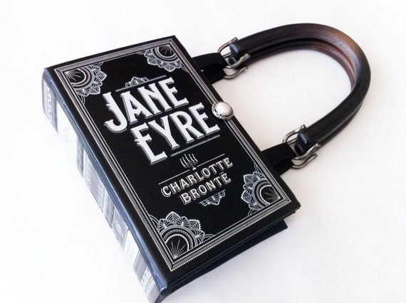 Jane Eyre Book Purse - Jane Eyre Book Clutch - Pocket Book Handbag - Charlotte Bronte Collector Gift - Prom Pocketbook