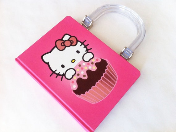 Hello Kitty with Cupcake Book Purse - PREORDER