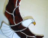 Stained glass Flying Eagle