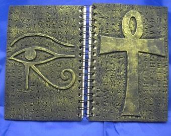 Gold Ankh Journal w/ Eye of Horus , Egyptian Theme