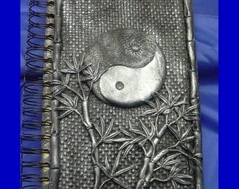Silver Ying Yang Art Journal JTJames , sketch book oriental theme