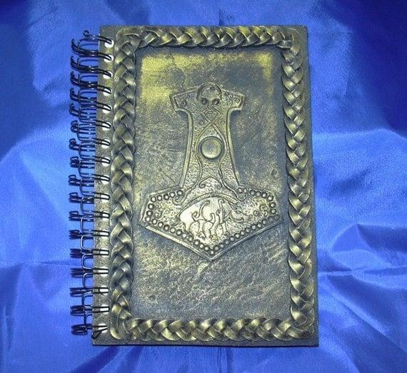 Gold Thor's Hammer Art Journal JTJames Viking  Celtic
