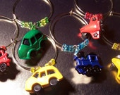 Wine Charms - 6 Set - Planes, Trains and Automobiles