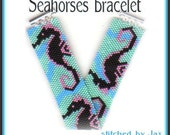Bead Pattern - Seahorse bracelet - Peyote stitch Even count