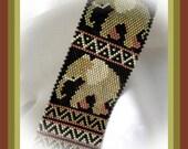 Bead Pattern - African Elephant bracelet - Brick stitch
