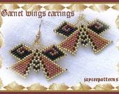 Garnet wings earring PATTERN