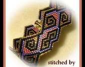 Bead Pattern - Precious Gold bracelet - Brick stitch