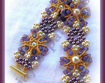Beading Tutorial - Crystal Mosaic bracelet - Triangle Weave