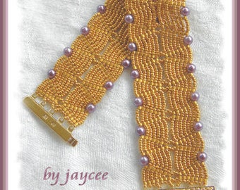Beading Tutorial - Elegance bracelet - Ladder and Netting stitch
