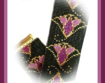 Bead Pattern - Egyptian Lotus bracelet - Loom stitch