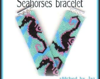 Bead Pattern - Seahorse bracelet - Peyote stitch Even count