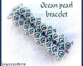 Ocean pearl bracelet PATTERN