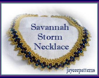 Beading Tutorial - Savannah Storm Necklace - Netting stitch