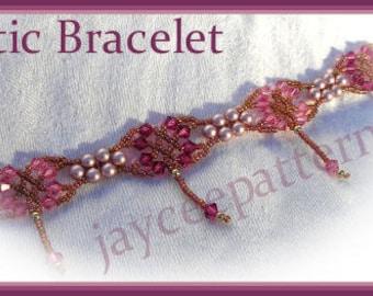 Beading Tutorial - Celtic Bracelet - Triangle weave