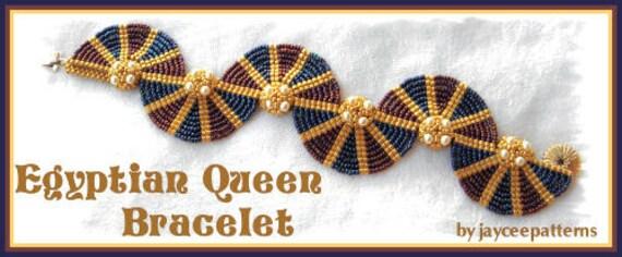 Egyptian Queen bracelet PATTERN