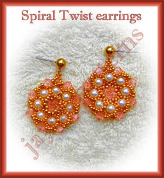 Beading Tutorial - Spiral Twist earrings - Flat spiral twist