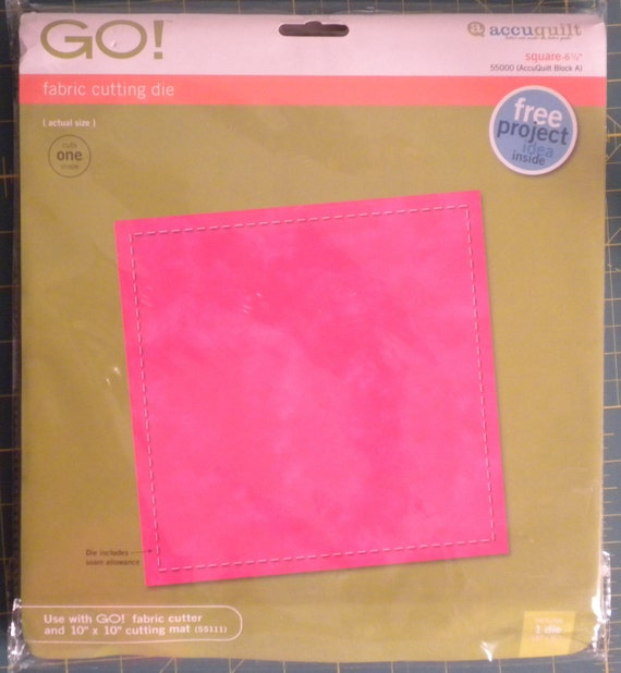 "AccuQuilt Go Fabric Cutting Die - 6.5"" Square"