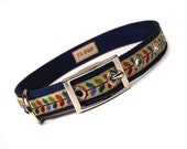 SALE - mod stem metal buckle dog collar (3/4 inch)