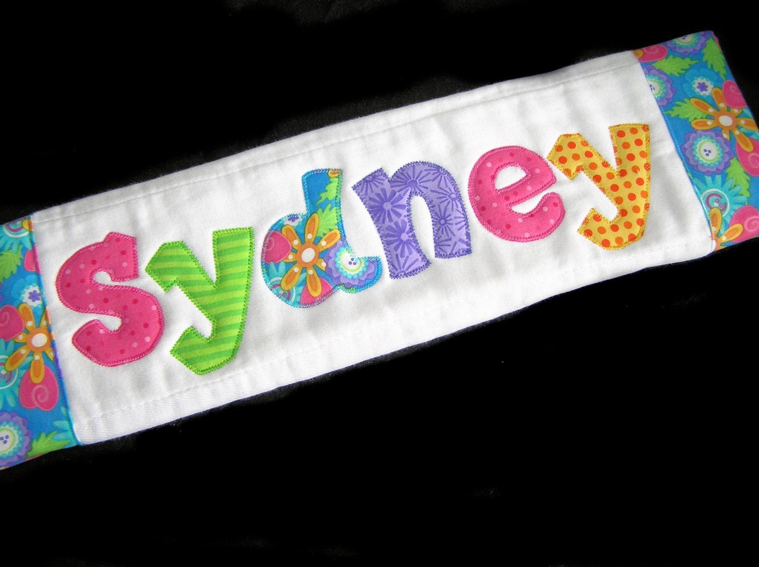 Personalized Baby Burp Cloth Appliqued Shades of Summer