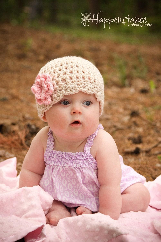 Items Similar Crochet Baby Hat Girl