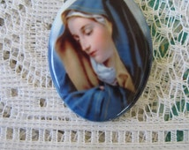 Our Sorrowful Mother Cabochon Our Sorrowful Mother Cameo 40X30 Cabochon Religious Cameo Mother Mary Jewelry