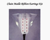 Swarovski Chain Maille Ribbon Earring Kit with Instructions